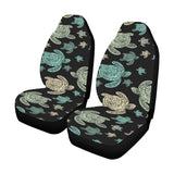 Sea Turtle Stamp Pattern Universal Fit Car Seat Covers