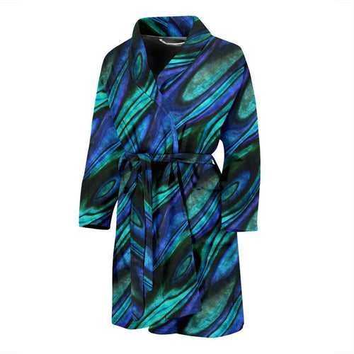 Abalone Pattern Print Design 03 Men Bathrobe-JORJUNE.COM