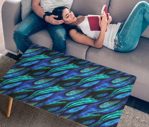 Abalone Pattern Print Design 03 Rectangular Coffee Table