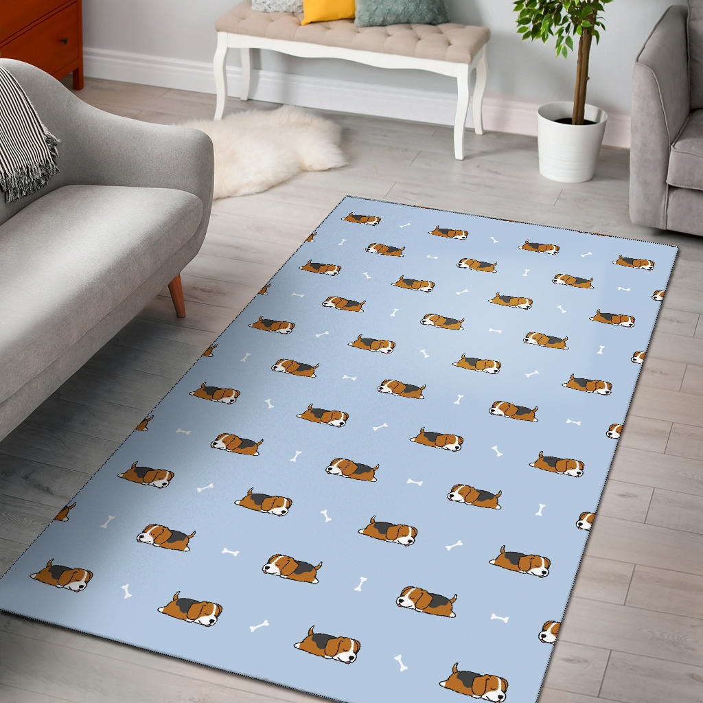 Beagle Pattern Print Design 06 Area Rug