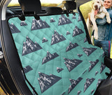 Mountain Pattern Print Design 01 Rear Dog Car Seat Cover Hammock