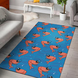 Prawn Cute Pattern Print Design 03 Area Rug