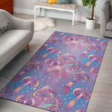 Psychedelic Mushroom Pattern Print Design A01 Area Rug