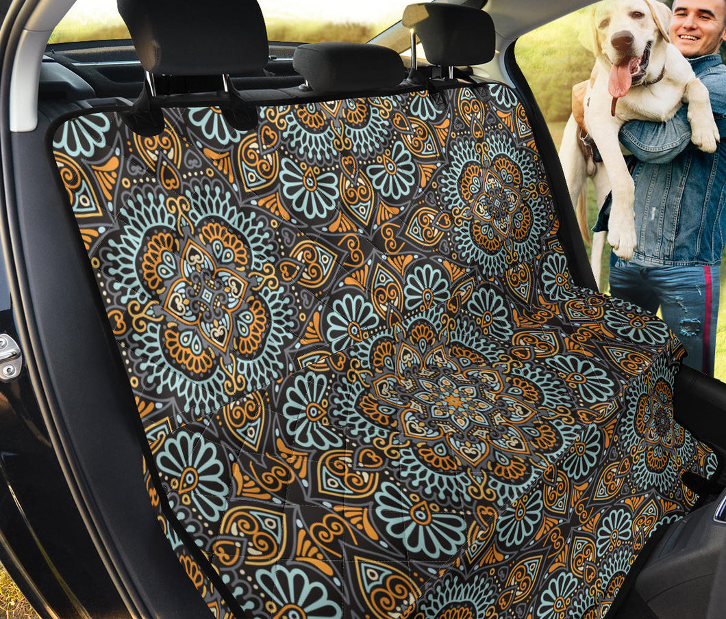 Mandala Pattern Print Design 05 Rear Dog Car Seat Cover Hammock