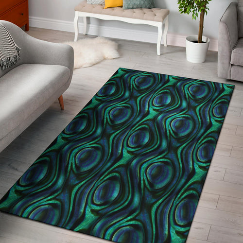 Abalone Pattern Print Design 01 Area Rug