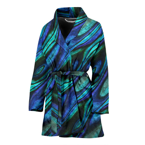 Abalone Pattern Print Design 03 Women Bathrobe
