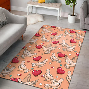 Pigeon Heart Pattern Print Design 04 Area Rug
