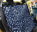 Music note Pattern Print Design A02 Rear Dog Car Seat Cover Hammock