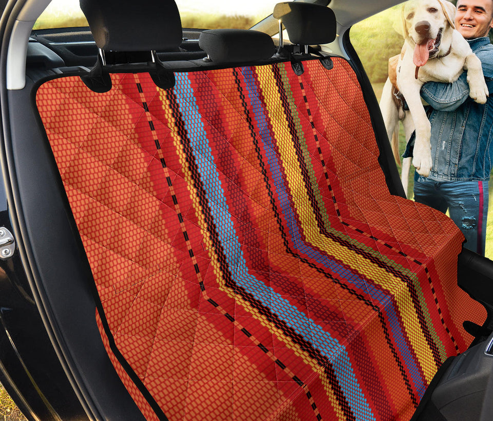 Mexican Pattern Print Design 05 Rear Dog Car Seat Cover Hammock