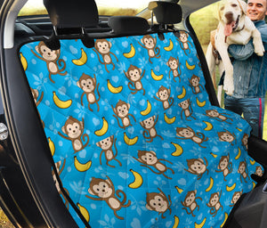 Monkey Pattern Print Design 05 Rear Dog Car Seat Cover Hammock