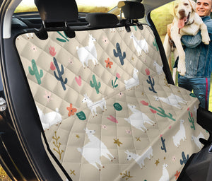 Llama Cactus Pattern Print Design 09 Rear Dog Car Seat Cover Hammock