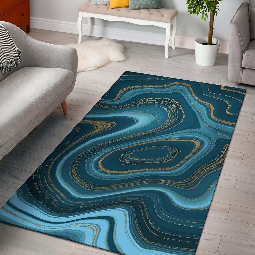 Liquid Pattern Print Design 04 Area Rug