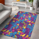 Psychedelic Mushroom Pattern Print Design A03 Area Rug
