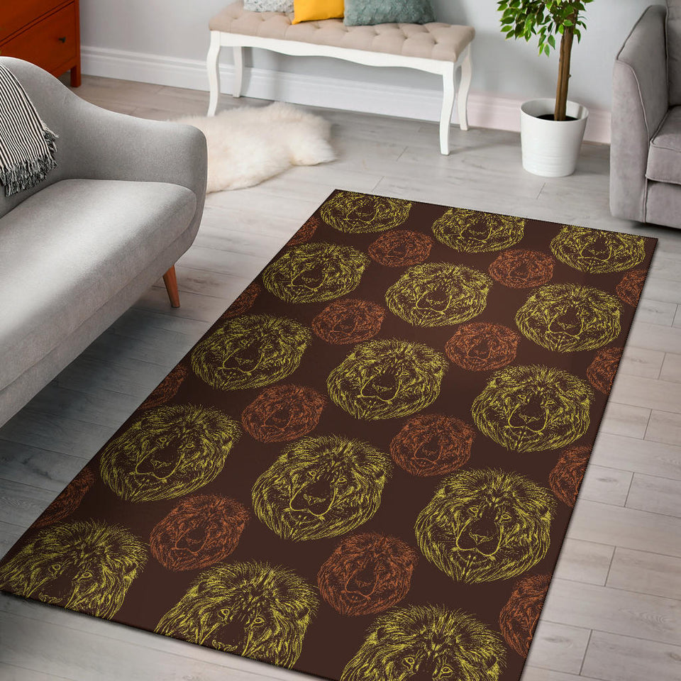 Lion Pattern Print Design 04 Area Rug