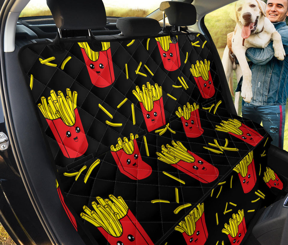 French Fried Pattern Print Design 03 Rear Dog Car Seat Cover Hammock