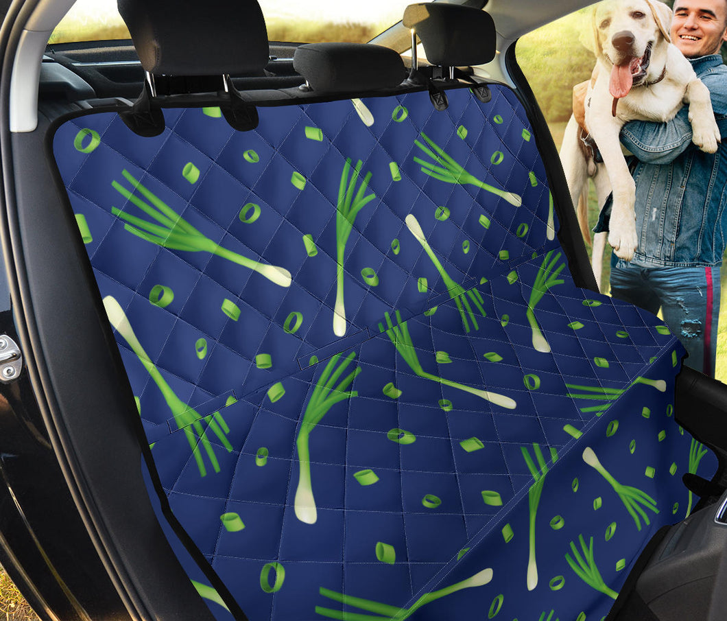 Leek Pattern Print Design 02 Rear Dog Car Seat Cover Hammock