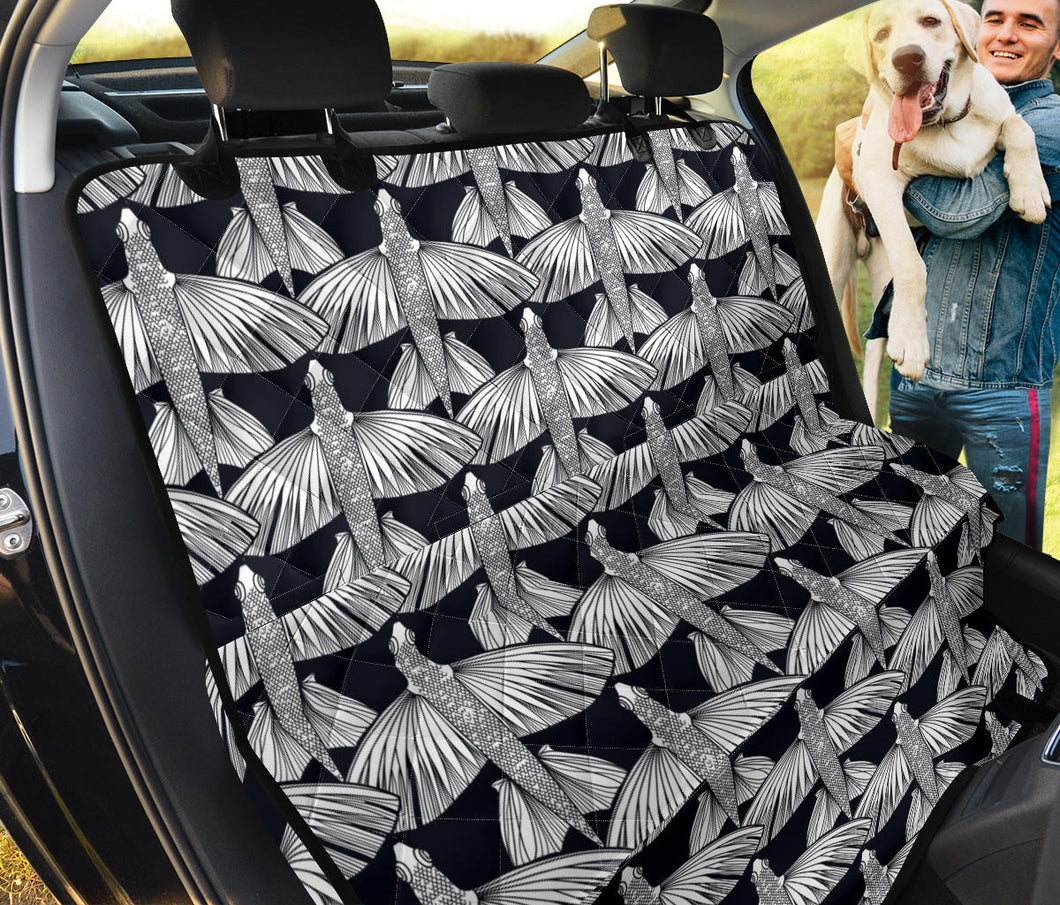 Flying Fish Pattern Print Design 03 Rear Dog Car Seat Cover Hammock