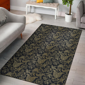 Brocade Pattern Print Design 04 Area Rug