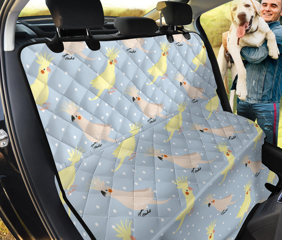 Cockatiel Pattern Print Design 03 Rear Dog Car Seat Cover Hammock