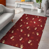 Angel Pattern Print Design 07 Area Rug