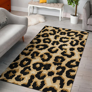 Jaguar Skin Pattern Print Design 02 Area Rug