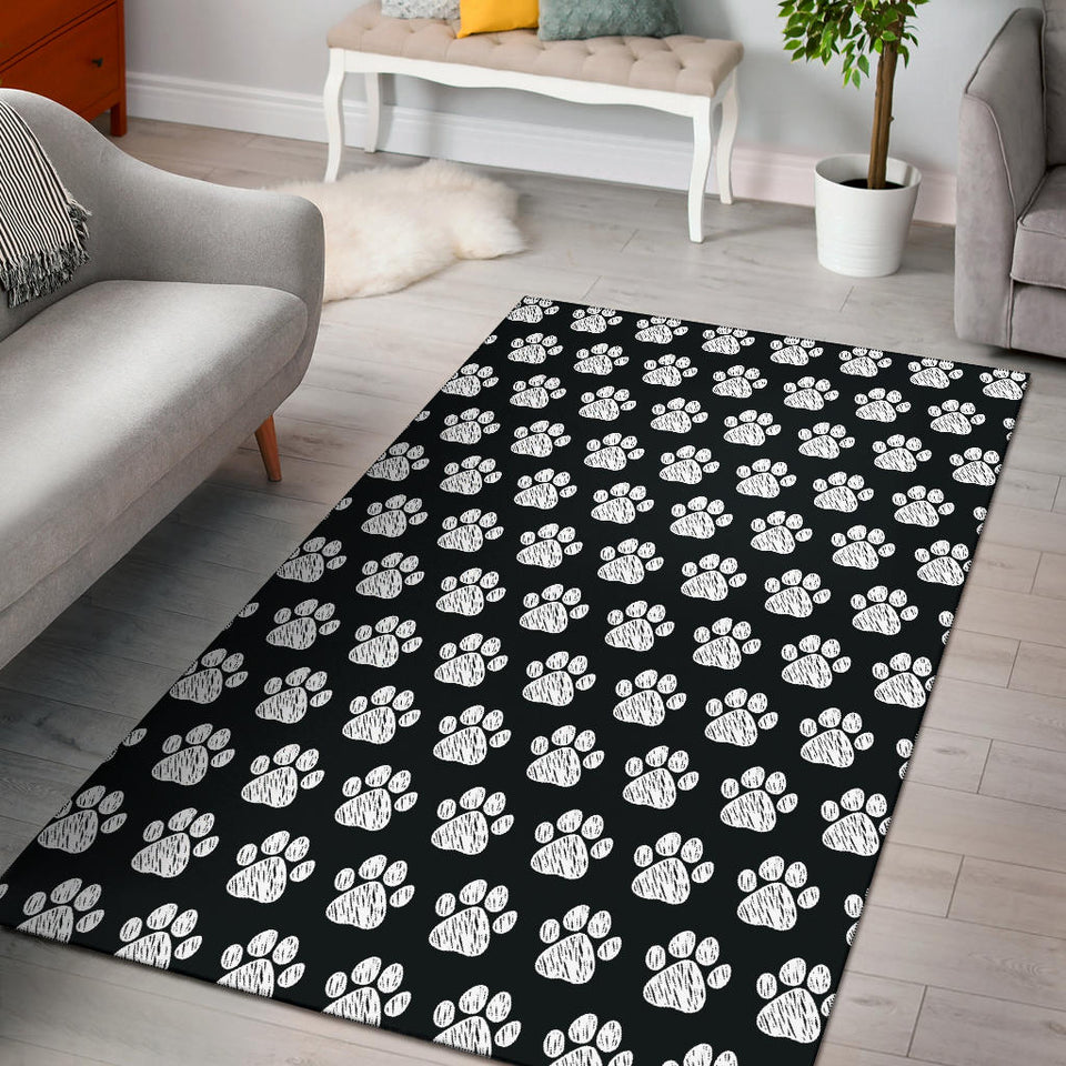 Paw Pattern Print Design A02 Area Rug