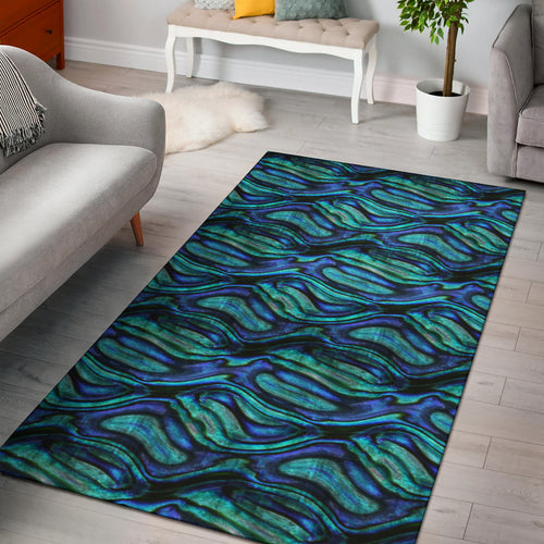 Abalone Pattern Print Design 02 Area Rug