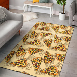 Pizza Pattern Print Design A01 Area Rug