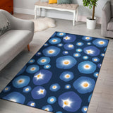 Morning Glory Pattern Print Design 02 Area Rug