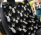 Moose Pattern Print Design 02 Rear Dog Car Seat Cover Hammock