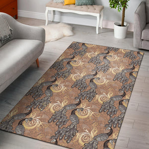 Peacock Pattern Print Design A05 Area Rug