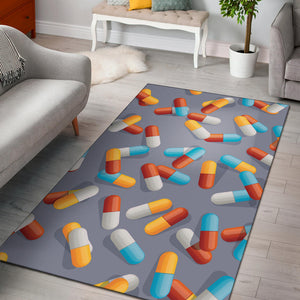 Pill Pattern Print Design A01 Area Rug
