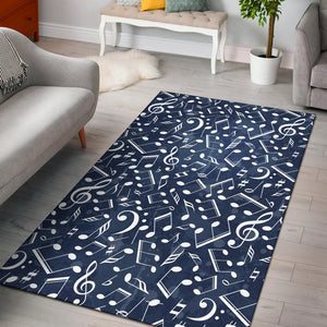 Music note Pattern Print Design A02 Area Rug