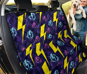 Lightning Thunder Pattern Print Design 01 Rear Dog Car Seat Cover Hammock