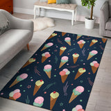 Ice Cream Pattern Print Design 04 Area Rug