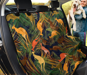 Kangaroos Pattern Print Design 07 Rear Dog Car Seat Cover Hammock