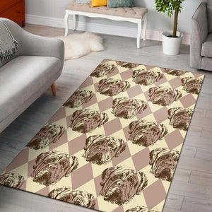 Mastiffs Pattern Print Design 01 Area Rug