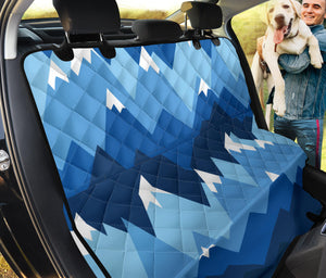Mountain Pattern Print Design 04 Rear Dog Car Seat Cover Hammock