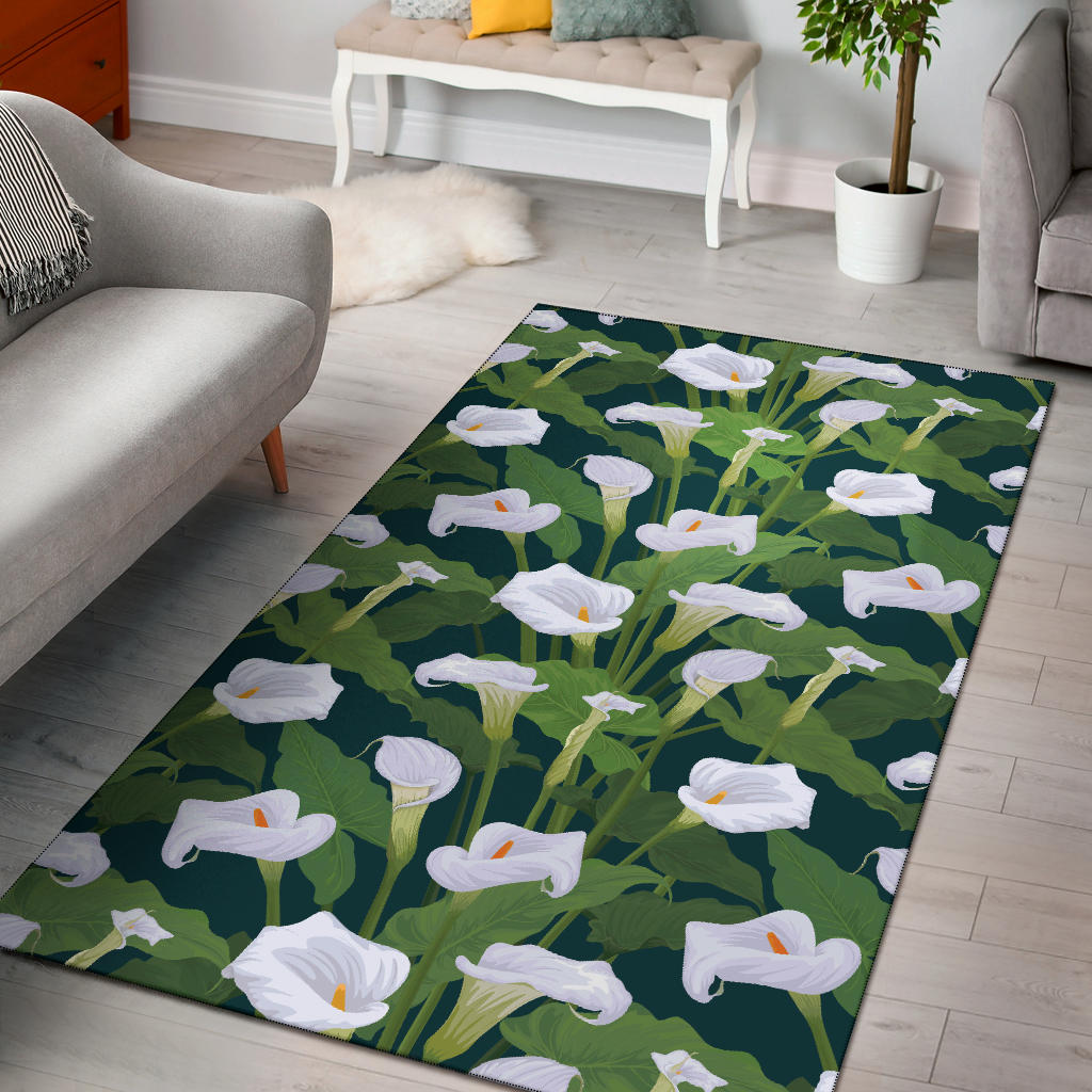 Lily Pattern Print Design 04 Area Rug