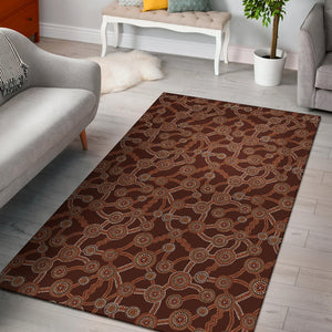 Aboriginal Pattern Print Design 03 Area Rug