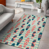 Aloha Hawaii Surfboard Pattern Print Design 02 Area Rug