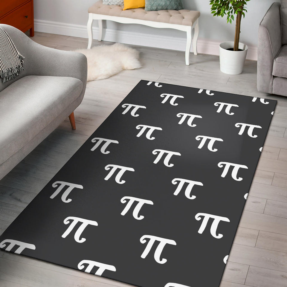 Pi Day Pattern Print Design A01 Area Rug