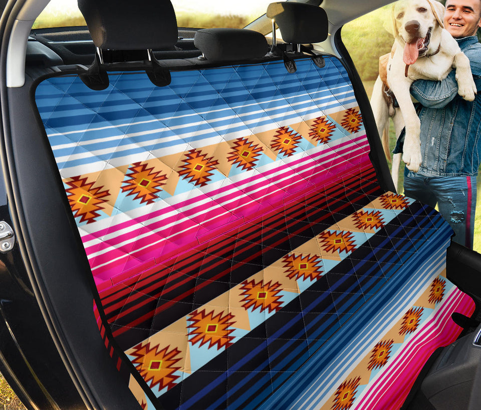 Mexican Pattern Print Design 03 Rear Dog Car Seat Cover Hammock