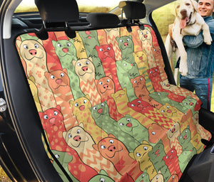 Ferret Pattern Print Design 01 Rear Dog Car Seat Cover Hammock