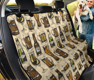 Beer Pattern Print Design 04 Rear Dog Car Seat Cover Hammock