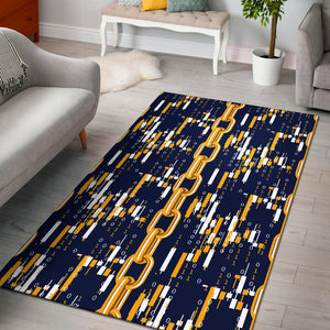 Cryptocurrency Chain Pattern Print Design 03 Area Rug