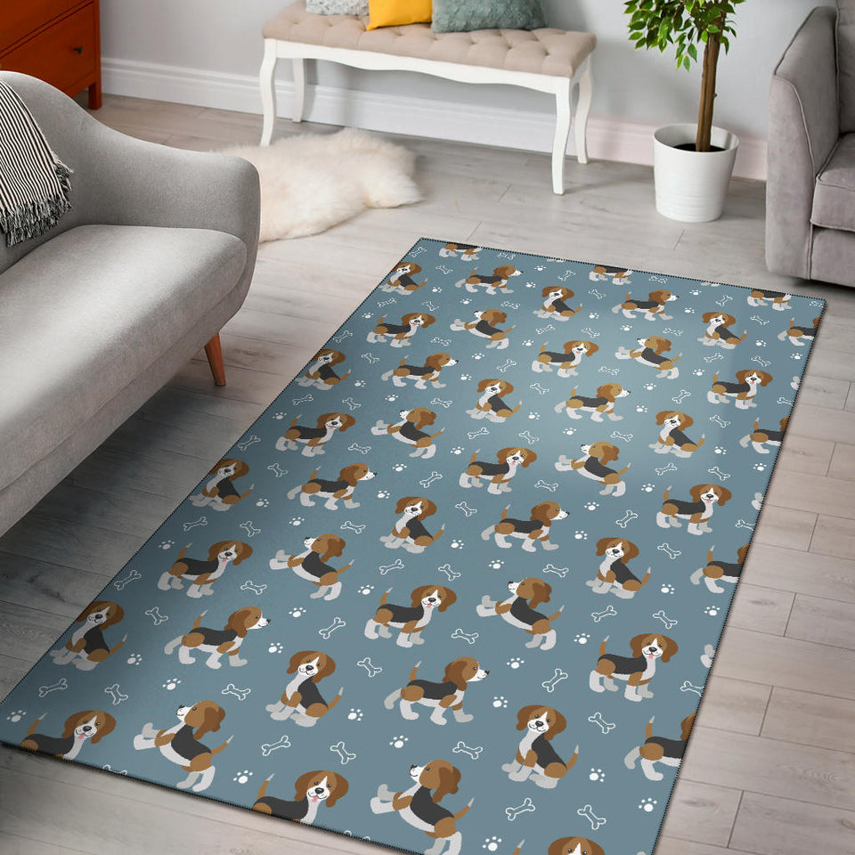 Beagle Pattern Print Design 02 Area Rug