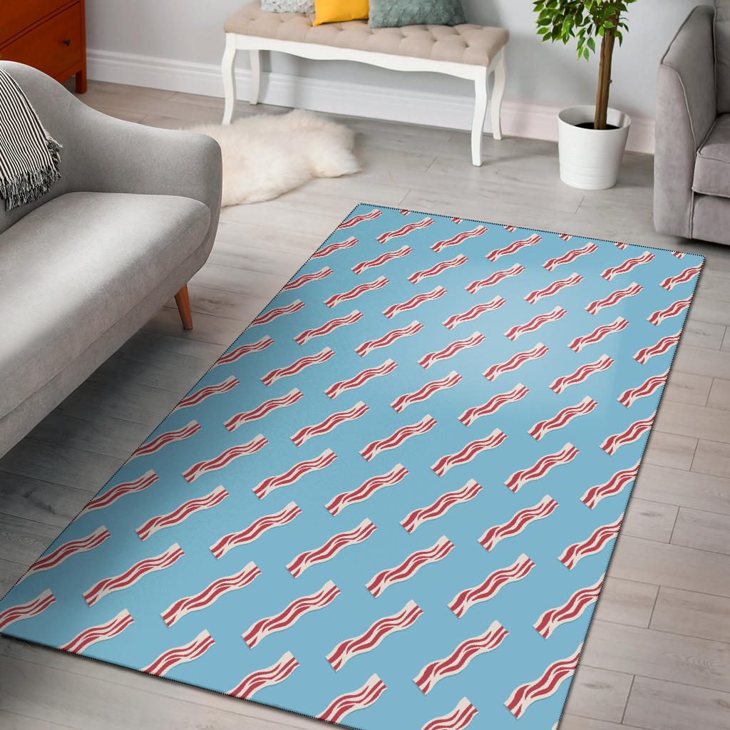 Bacon Pattern Print Design 03 Area Rug