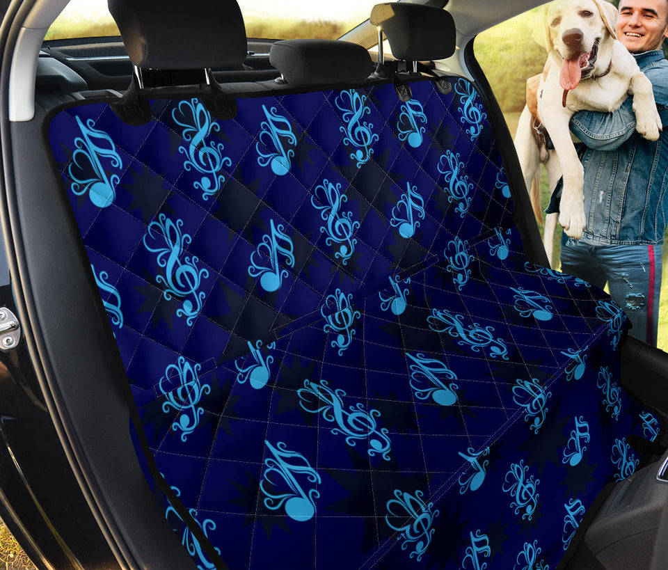 Music note Pattern Print Design A04 Rear Dog Car Seat Cover Hammock