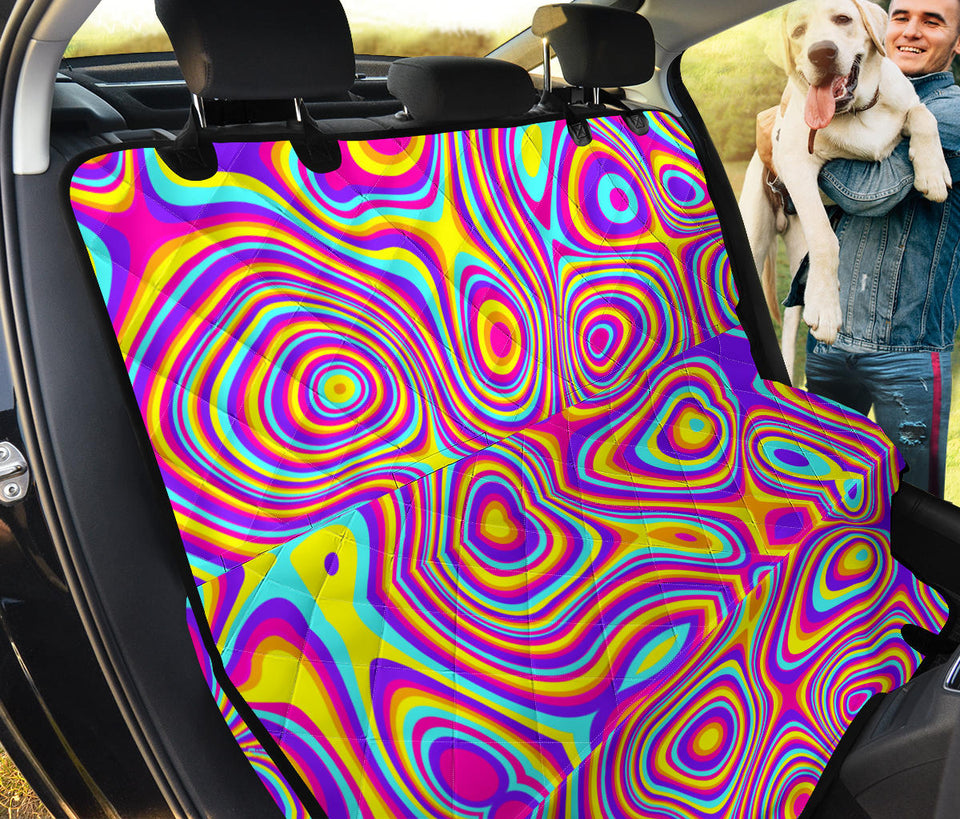 Liquid Pattern Print Design 06 Rear Dog Car Seat Cover Hammock